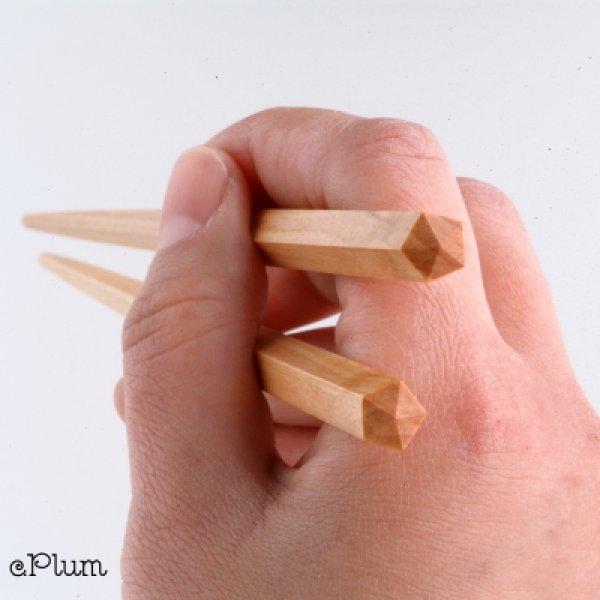 画像1: 五角箸 オノオレカンバ (1)
